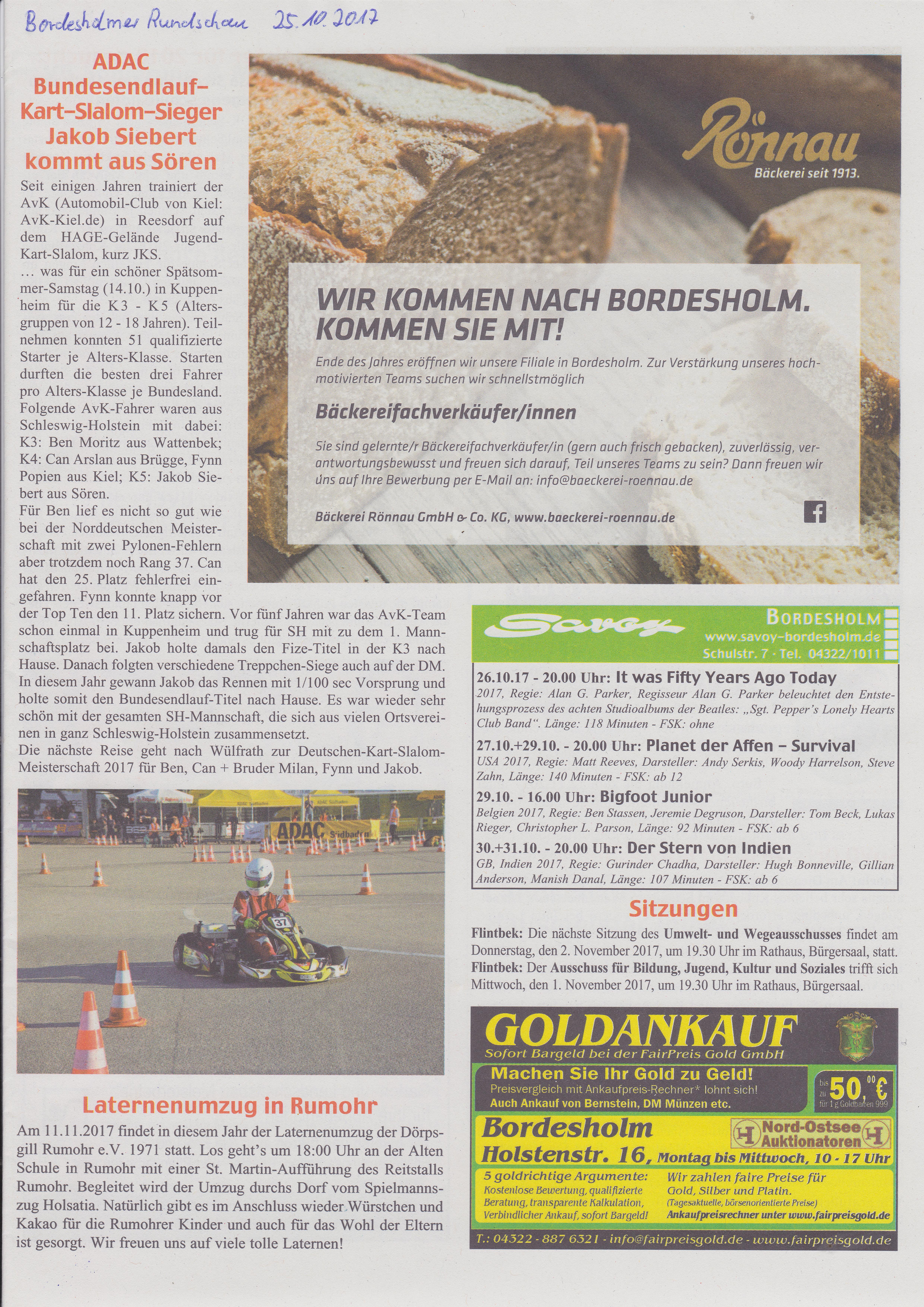 ADAC Bundesendlauf-Kart-Slalom-Sieger Jakob Siebert kommt aus Sören